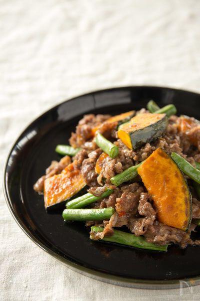 牛肉と一緒に野菜もたっぷり食べられるボリュームおかずです。