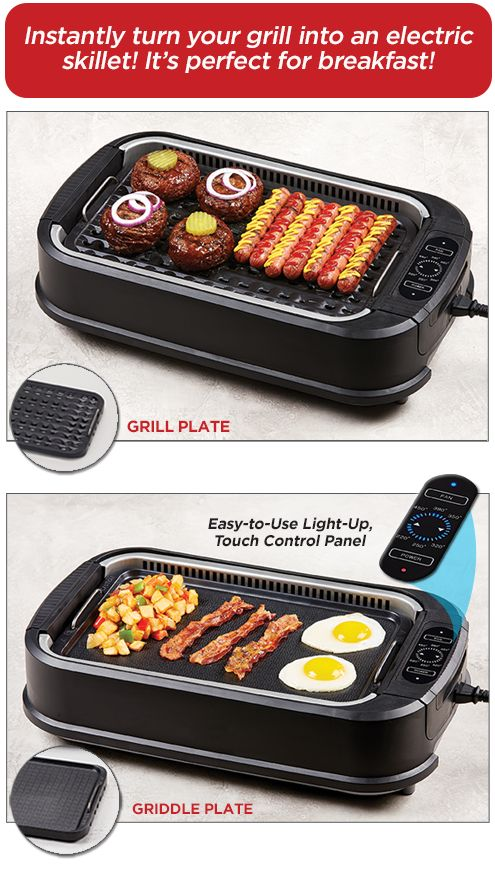 Power Smokeless Grills Turns Into A Electric Skillet Indoor Grill Recipes Grilling Recipes