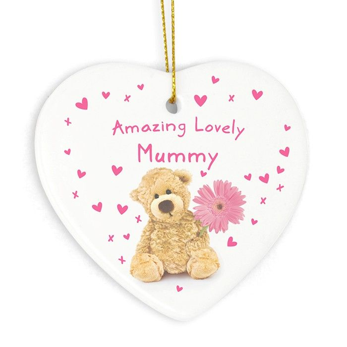 Teddy Flower Heart Decoration  £8.99 Free UK Delivery
