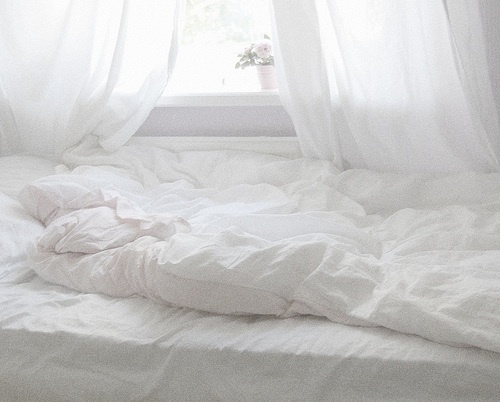 Just calm simplicity and delicate bedroom.