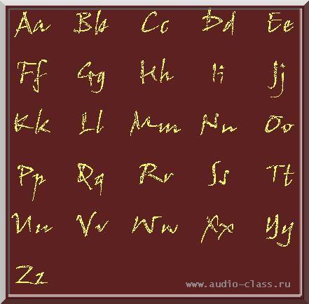 Рукописный английский алфавит