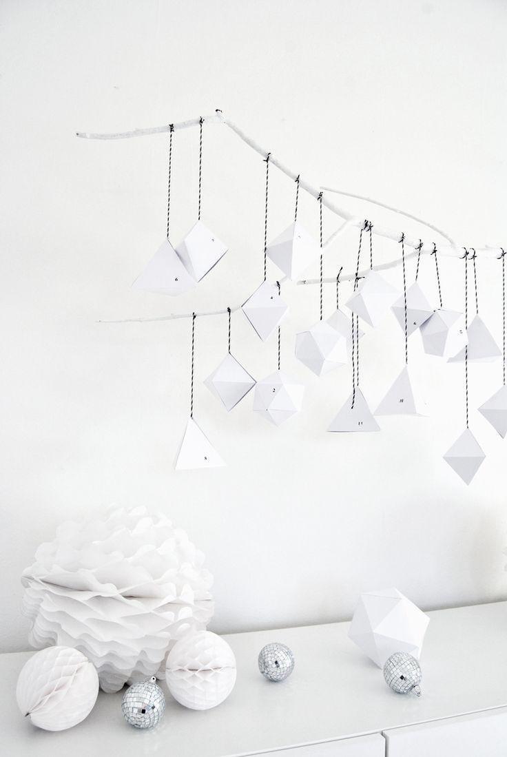 DIY Geometric Advent Calendar | DIY Holidays | DIY Christmas Crafts and DIY