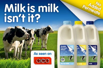 Only the best, fresh, wholesome #milk makes it into Aussie Farmers Direct bottles. Good old fashioned, #Aussie milk, straight from Aussie cows, reared on Aussie soil, by Aussie #farmers, bottled in Aussie dairies with 'no added #permeate', the way milk should be.