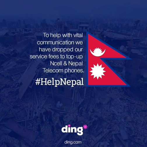 In an attempt to make things just a little easier for people trying to reach loved ones in Nepal, we have dropped our fees to NCell and Nepal Telecom.  Top-up can be send through our website - http://buff.ly/1PWG0Y9 or app http://buff.ly/1PWG2PG  #HelpNepal #NepalQuake