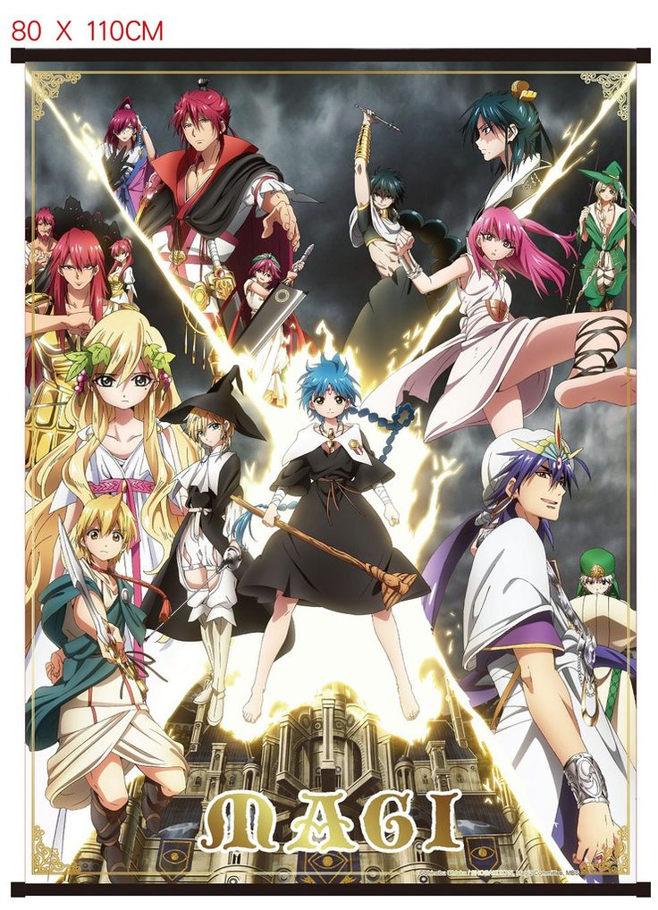 Wall Scroll-Magi: The Kingdom of Magic #Aladdin #Alibaba #Morgiana #Sinbad #Wallscroll #Anime #Adventure