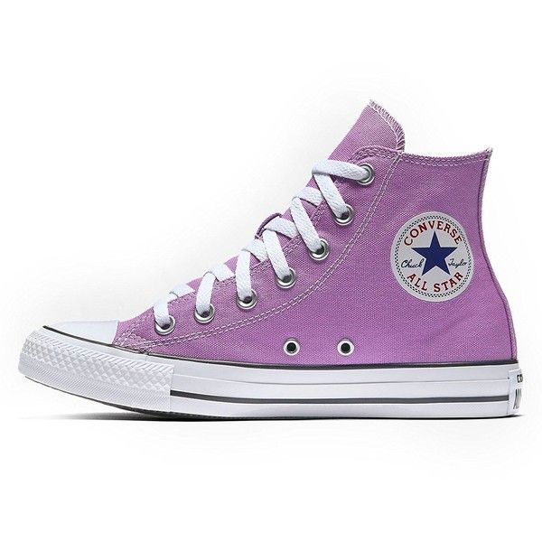 Converse Women's Shoes Chuck Taylor HI Pink Fuchsia Glow Fashion... ($39) ❤ liked on Polyvore featuring shoes, sneakers, pink trainers, wide width shoes, pink shoes, fuschia shoes and wide shoes
