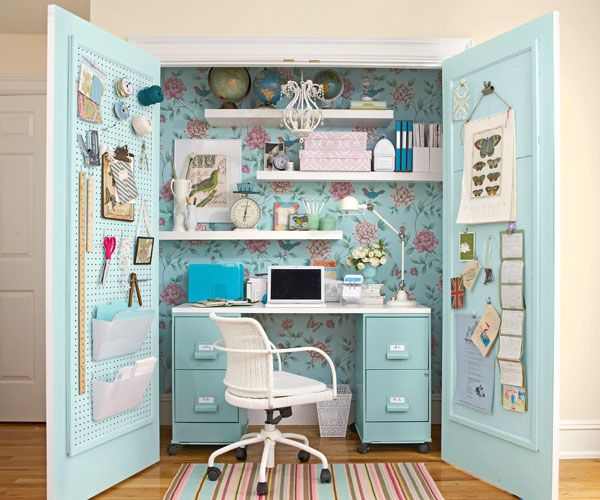 home office ideas with overhead cupboards - Google Search