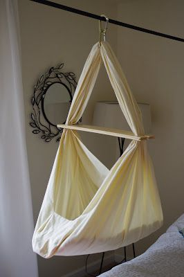 Gorgeous DIY Baby Hammock--we have one we bought and love, but if we want two, maybe we could make it!