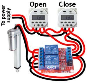 Automatic chicken coop door wiring door pinterest for D20 chicken coop motor door