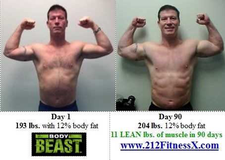 11 Lean pounds of muscle in 90 days!