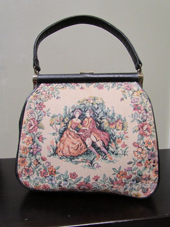 Vintage Victorian Style Tapestry Bag by TreasuresOnBroadway, $46.00