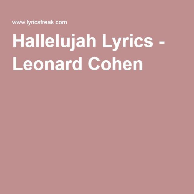 Hallelujah by Leonard Cohen  Jeff Buckley Ukulele Chords