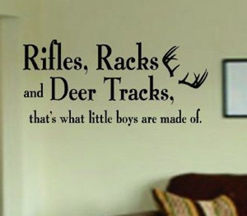 Rifles Racks and Deer Tracks Decal Sticker Wall Boy by BoopDecals, $15.00