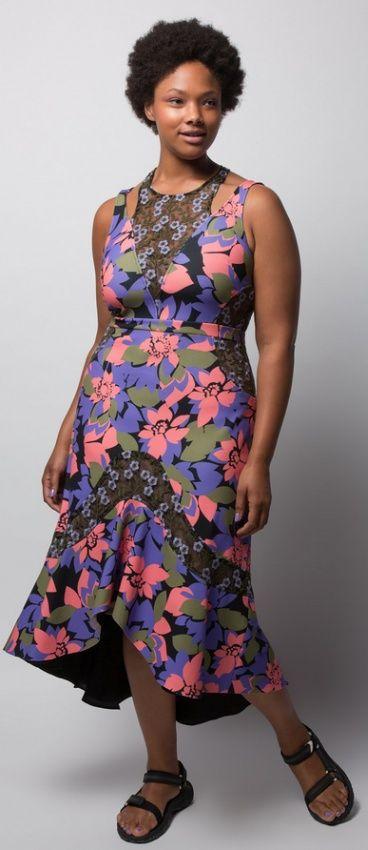 нарядное платье-маллет для пышек с большой грудью