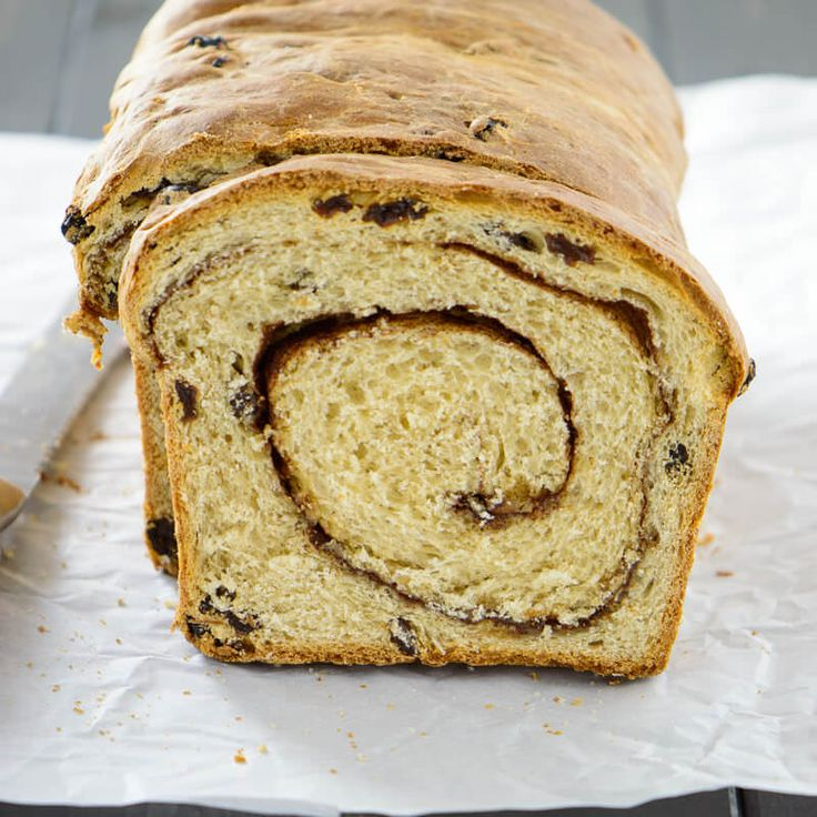 This homemade cinnamon raisin bread is so simple and has a swirly cinnamon center that stays soft long after the bread has cooled. It's perfect for toast!