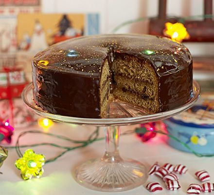 Piernik (Polish gingerbread). A classic Polish honey gingerbread cake is adapted by Edd Kimber. It's layered with plum jam and coated in chocolate with sprinkles of edible gold