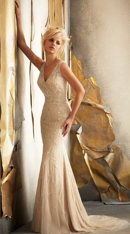 17 best images about champagne wedding dresses on for Jewelry for champagne wedding dress