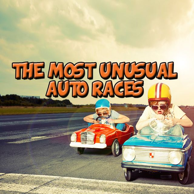 5 most unusual #autoraces #aroundtheworld more info on our website. Link in bio Tx @HowStuffWorks #DidyouKnow #FunFacts