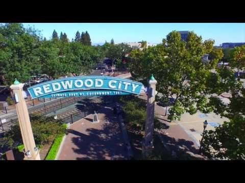 Drive Redwood City California El Camino Real Atherton Menlo Park - YouTube