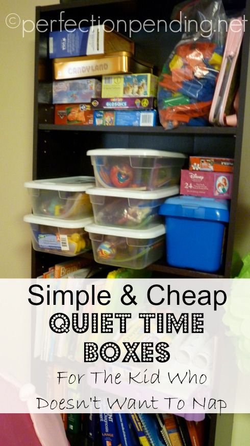 Quiet Time Boxes for the Child that Doesn't Want to Nap. This blogger actually tells you what she put in each one! Love this!!