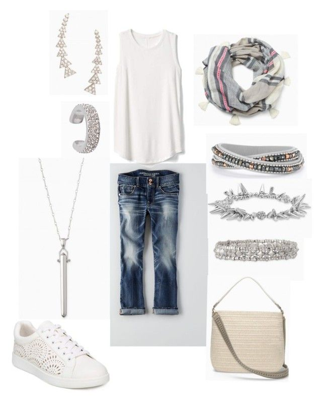 """""""Untitled #18"""" by meldafig on Polyvore featuring American Eagle Outfitters, Gap, and Stella & Dot http://www.stelladot.com/deborahkachhal"""