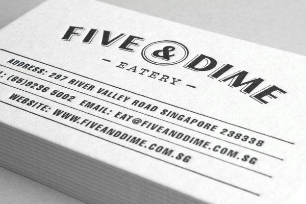 Business cards. Five & Dime by Bravo Company , via Behance