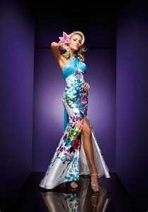 Love this dress!  Turquoise Multi High Slit Prom Dress  partydressgallery.blogspot.com