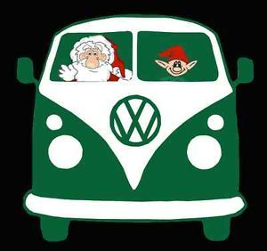 Retro Christmas Santa AND ELF VW Kombi VAN Mens T Shirt S M L XL XXL XXXL | eBay