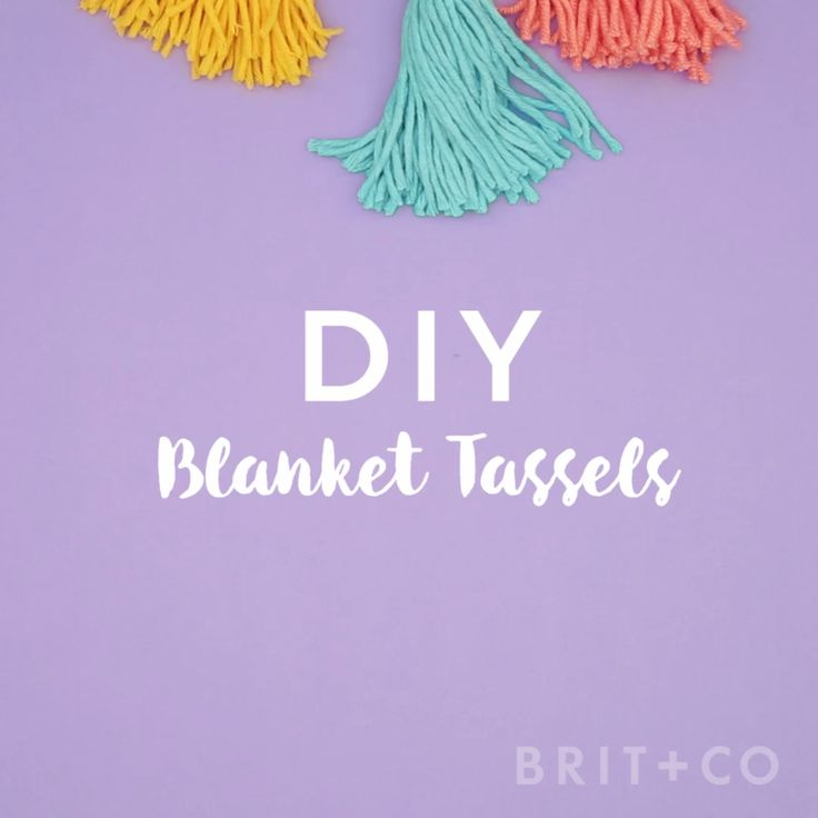 Learn how to add tassels to your blankets with this easy DIY video tutorial.