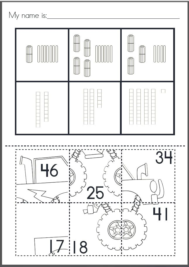 place value puzzle pastes cut paste worksheets numbers to 50 places place values and. Black Bedroom Furniture Sets. Home Design Ideas