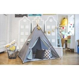 #Grey #Children's #Teepee from #funique. EU hand made kids #play tent. perfect idea for #xmas or #birthday #gift #present