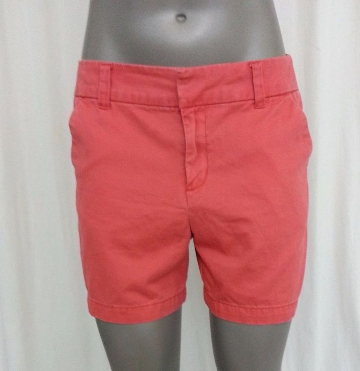 Merona casual shorts women's size 6 coral Fit 1 100% cotton #Merona #CasualShorts