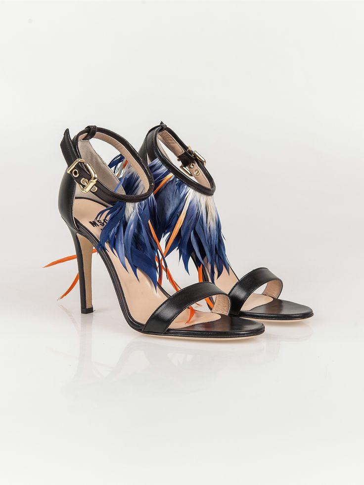 MSGM , Feather Cabouchon High Sandalet #shopigo#shopigono17#shoponline#womenswear#sneakers#MSGM