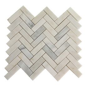 allen   roth�Genuine Stone White Marble Natural Stone Mosaic Floor Tile (Common: 13-in x 13-in; Actual: 13.1-in x 13.2-in)