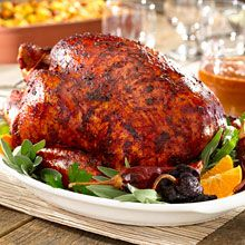 Shake up Thanksgiving with this Chile-Rubbed Turkey recipe. The key to extraordinary flavor: a traditional Mexican chile marinade, GOYA® Adobo and colorful Sazón GOYA® add the perfect amount of seasoning.