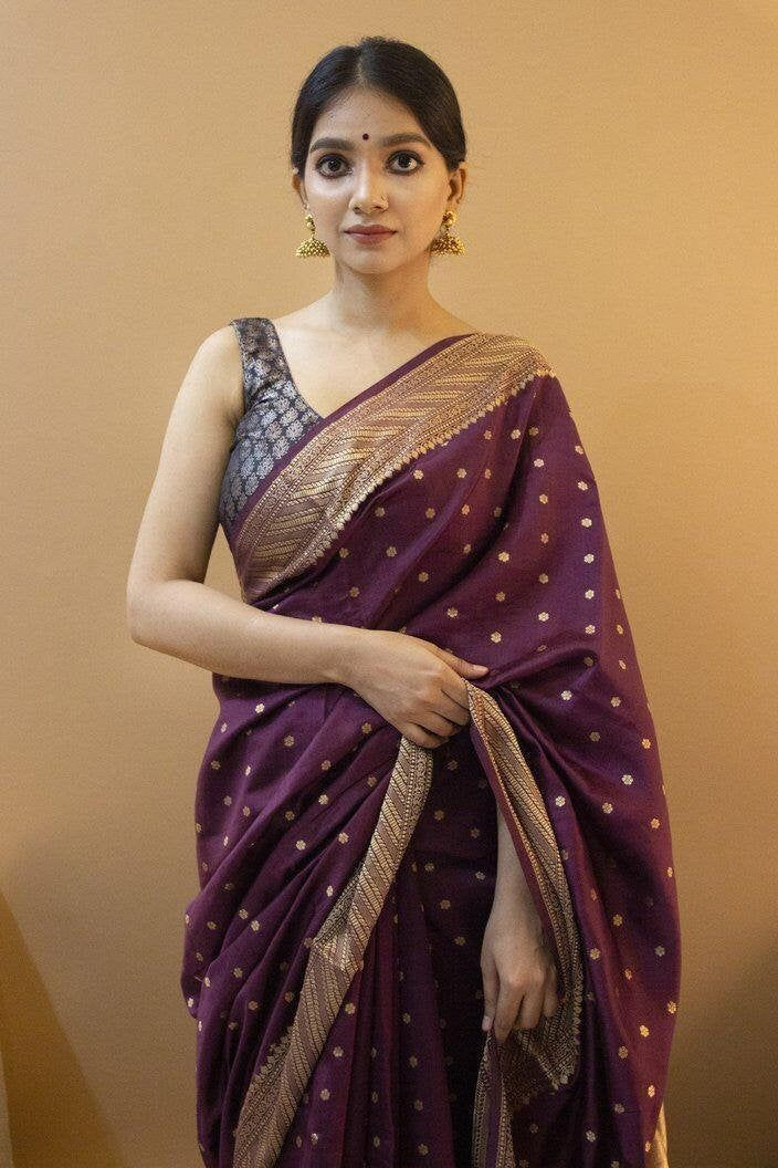 saree blouse bridal saree designers saree soft lichi silk saree golden zari saree women/'s saree jecard weaving saree wine saree
