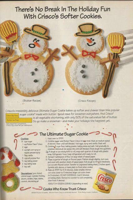 Aunt B Simply Living: Crisco Sugar Cookies *full recipe on site*