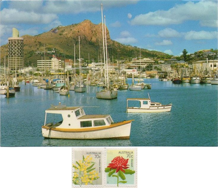 AUS-3981 - Arrived: 2017.02.07   ---   Townsville is a city on the north-eastern coast of Queensland, Australia. It is in the dry tropics region of Queensland, adjacent to the central section of the Great Barrier Reef. On this card you can see the Castle Hill from the Strand.