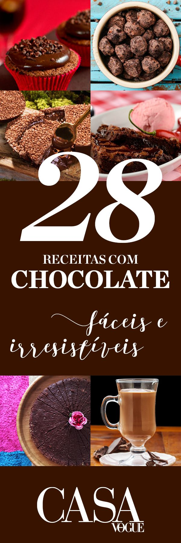 Receitas de sobremesas incríveis com chocolate