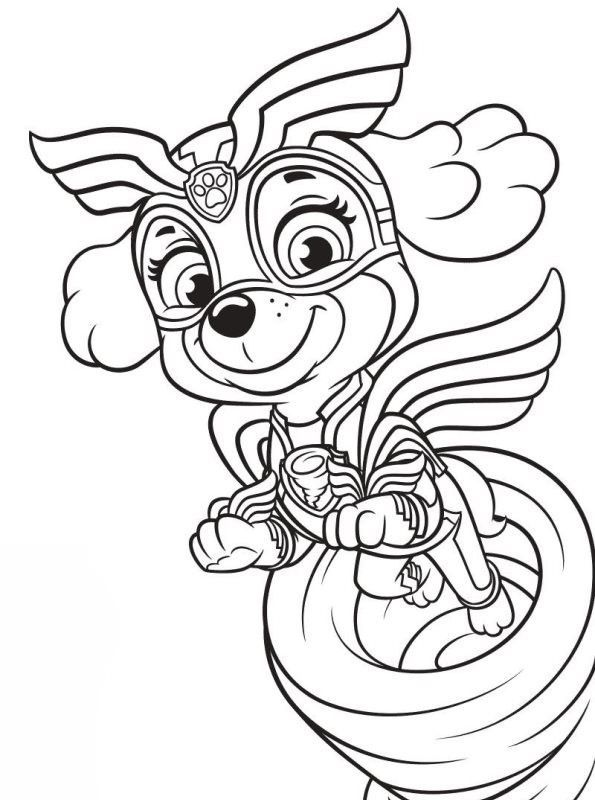 20 Skye Paw Patrol Coloring Pages Printable Coloring Pages In 2020 Paw Patrol Coloring Pages Skye Paw Patrol Bear Coloring Pages