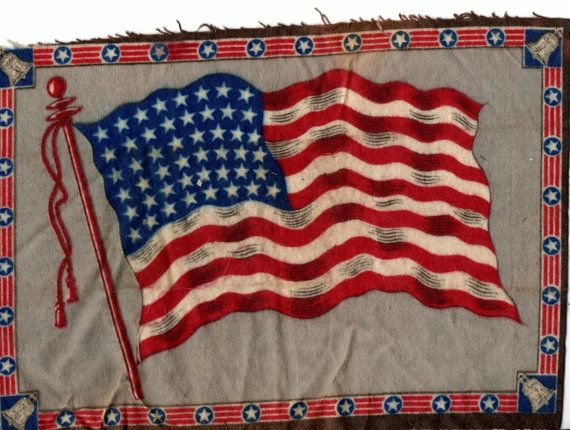 Tobacco prize Flannel American 48 Star Flag Rare by Kathleenesque