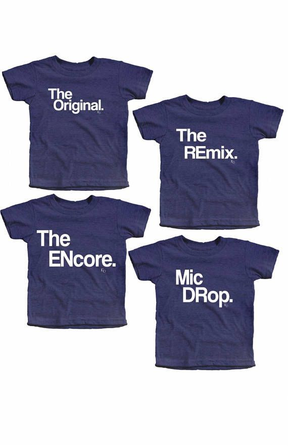 d00a85d8 Matching Kids Set | Siblings | Unisex | Gift | Mic Drop | Family ...