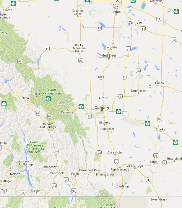 Alberta Ghost Town Map