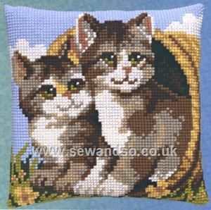 Cat Duo Cushion Front