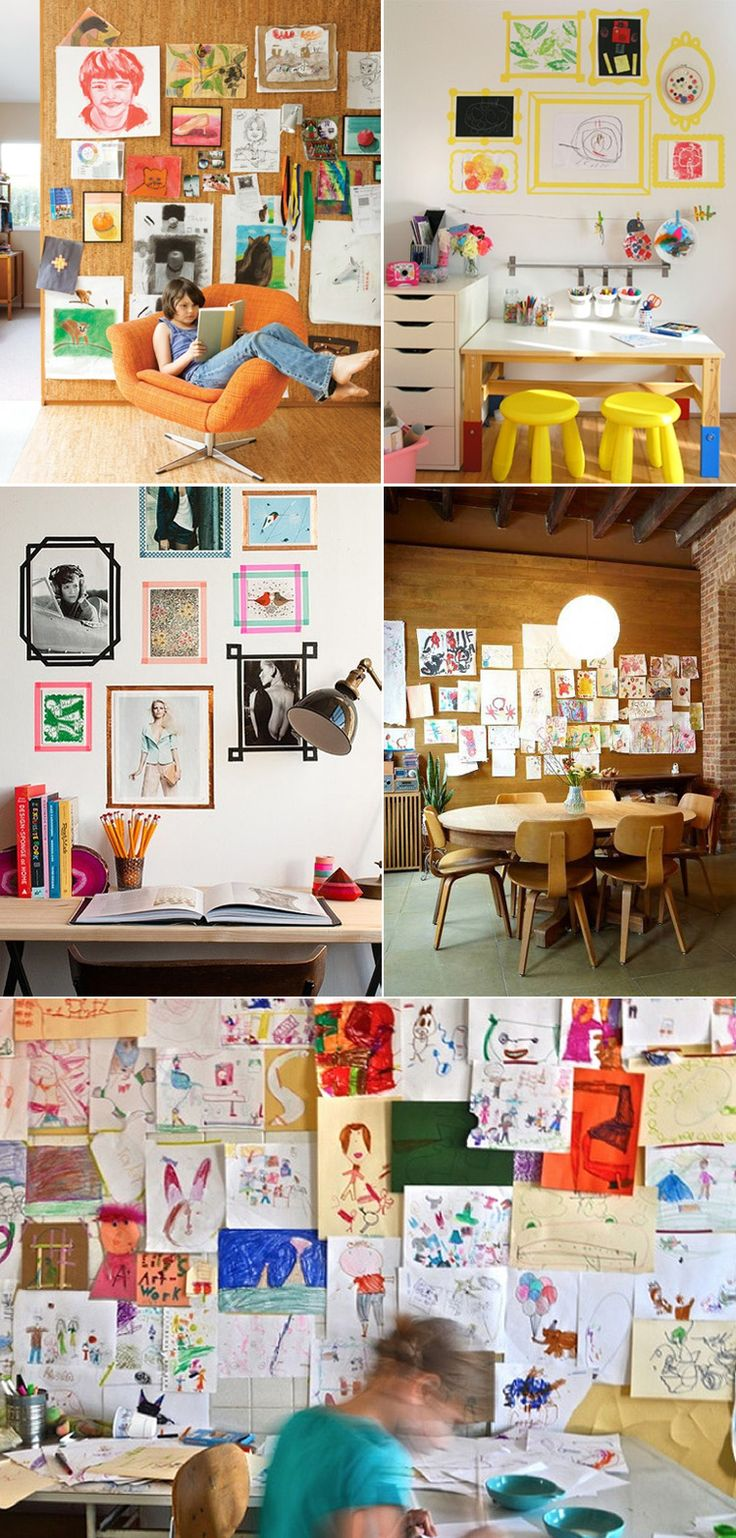 Gallery Wall // Children's Art