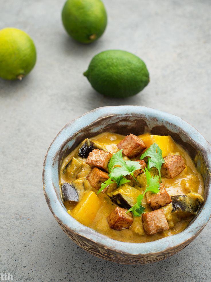Curry z mango i bakłazanem weganskie, bezglutenowe