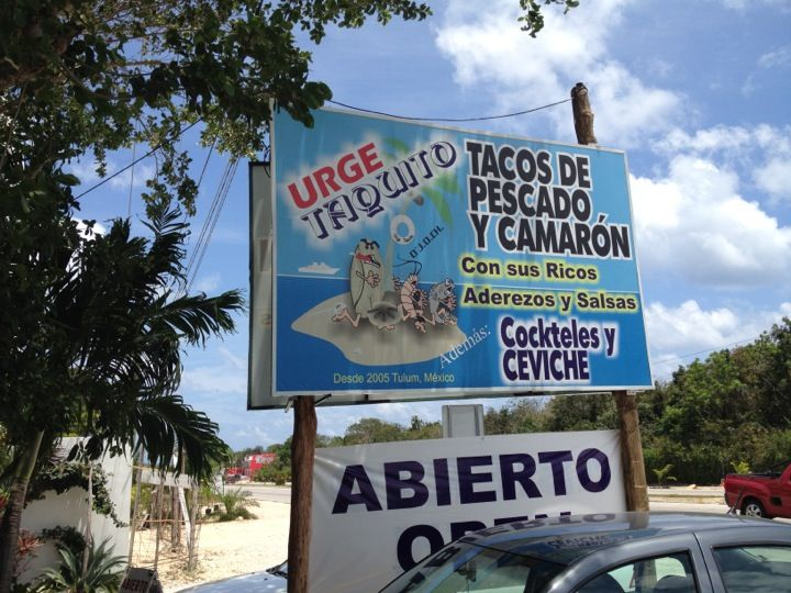 "Urge Taquito Avenida Tulum, about 1 or 2 blocks east of Coba Highway (109). This family offers fish/shrimp tacos and ceviches. But the specialty seems to be this thing called a ""torito"". A Xcatic chile is stuffed with your choice of fish/shrimp and cheese, deep fried and served over two tortillas. A lot of fun to eat. Their salsa bar has over 10 types of sauce you can choose from including peanut salsa, tamarind salsa and mango salsa. No crema used here surprisingly. Ensenada's fish tacos…"
