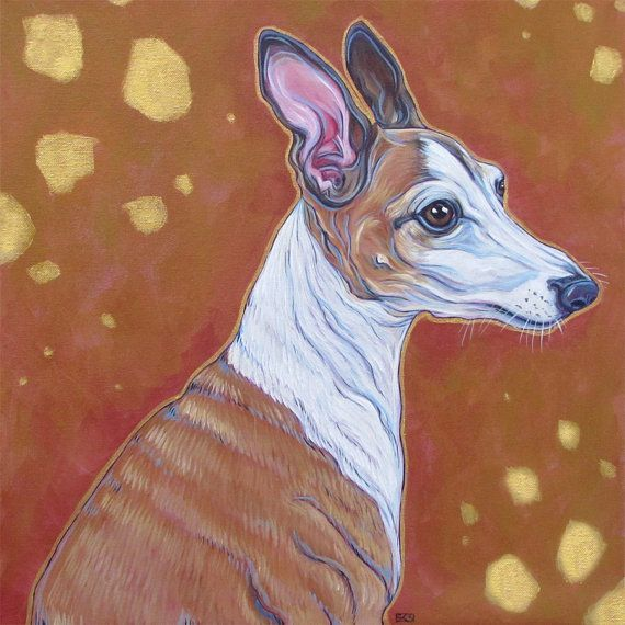 Custom pet portrait painting in acrylic paint on stretched for Custom acrylic paint