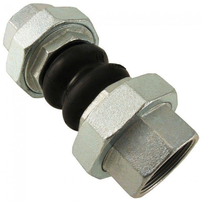 Manguito elastico de doble onda con extremos roscados según DIN 259/2999. Permite la absorción de ruidos y de vibraciones en equipos de bombeo.