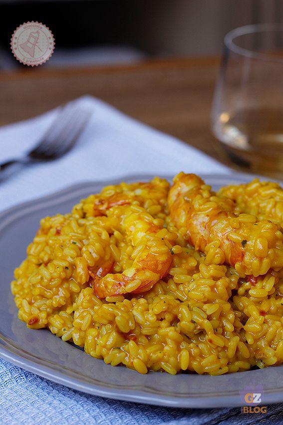 RISO ALLA ISEO ricetta primo piatto con gamberi curry